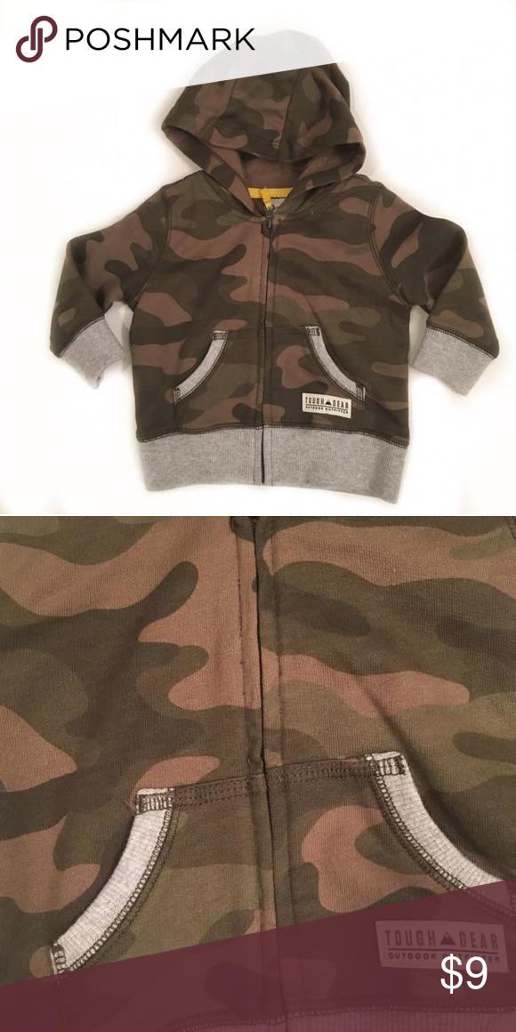 4ee8b74e8299 NWOT Carters Camo with grey trim sweat jacket Carters Shirts   Tops