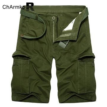 e6d3adff22415 2017 NEW Cotton Shorts Men Summer Casual Shorts Relaxed 2017 Brand  Boardshorts Cool Multi-pocket cargo shorts