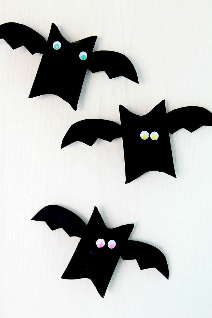 halloween bat toilet paper roll craft for kids this halloween bat craft is not only - Halloween Bats Crafts