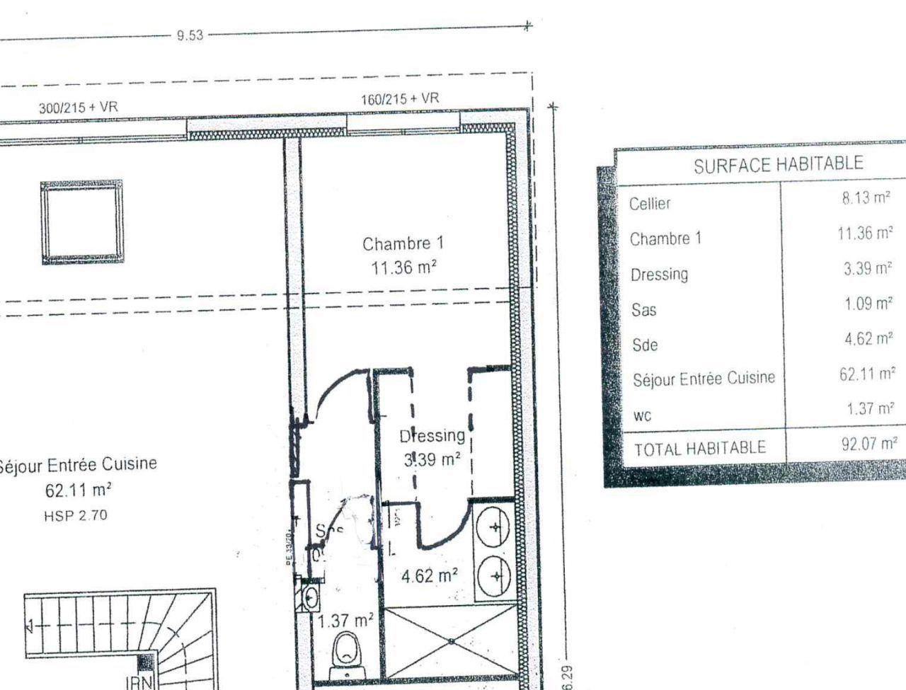 suite parentale plan initial avant modification maison de ville contemporaine toit mixte pour notre 2ieme - Modification De Plan De Maison