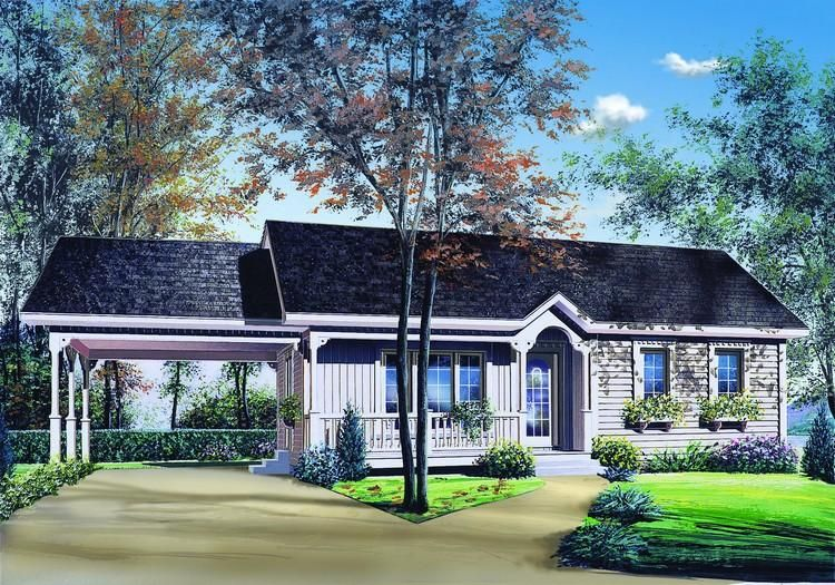 House Plan 03400252 Ranch Plan 947 Square Feet, 2