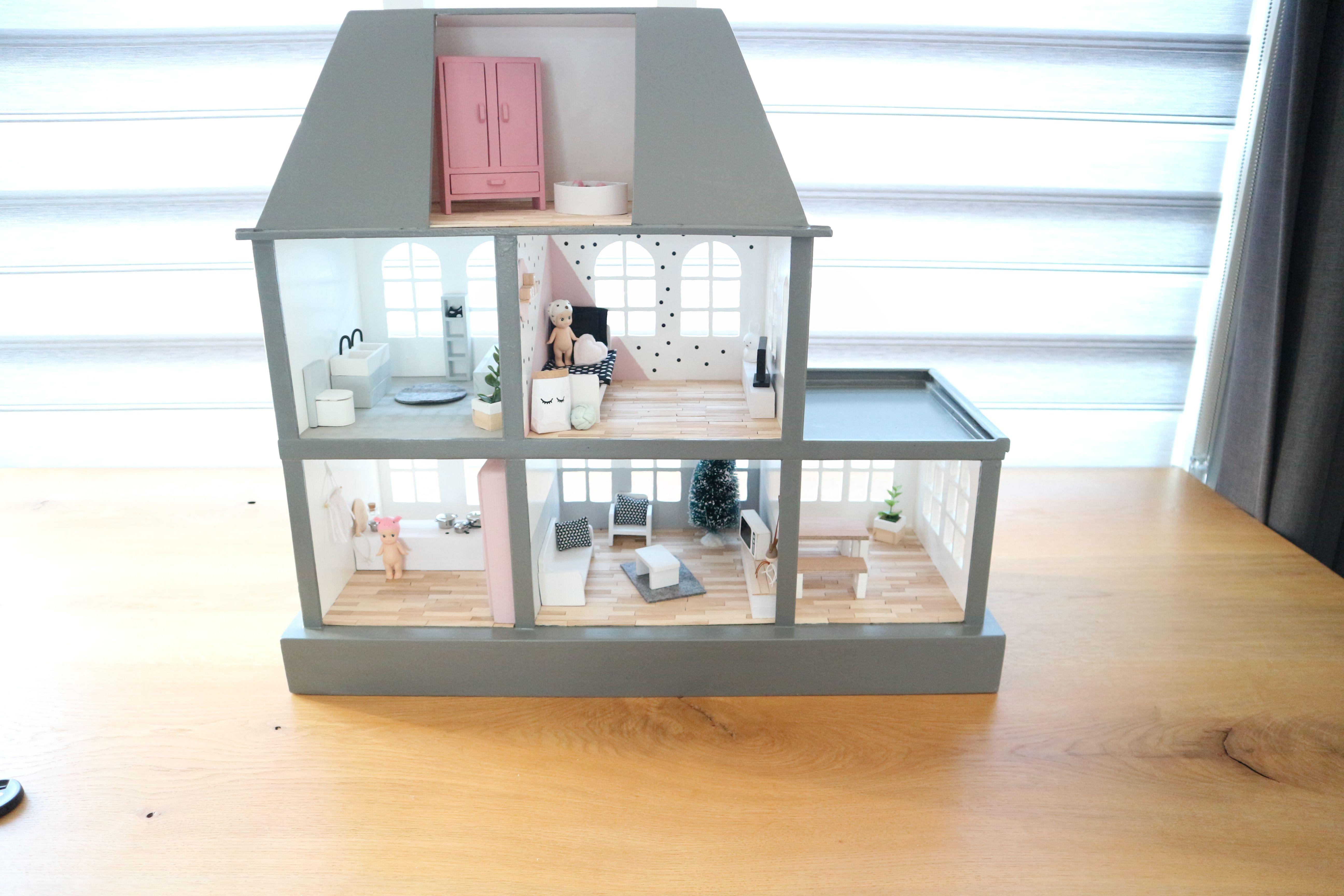 Modern poppenhuis dollhouse pinterest modern for Poppenhuis voor barbie