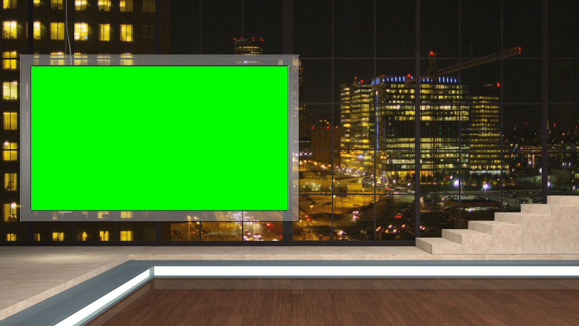 104 Hd News Talkshow Tv Virtual Studio Green Screen Background Night City Mon Stock Foot Green Screen Video Backgrounds Virtual Studio Green Screen Backgrounds