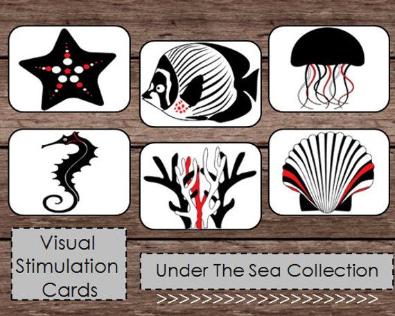 Black White Red High Contrast Baby Flash Cards Montessori Etsy Baby Flash Cards Printable Flash Cards High Contrast
