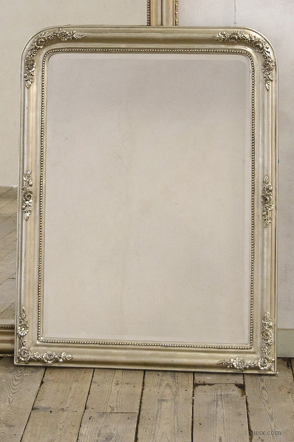 Louis Philippe Fleur Silver Gilt Leaf Bevelled Mirror: For sale at ...