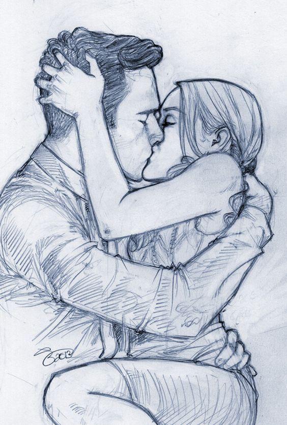 Нарисованные пары карандашом картинки
