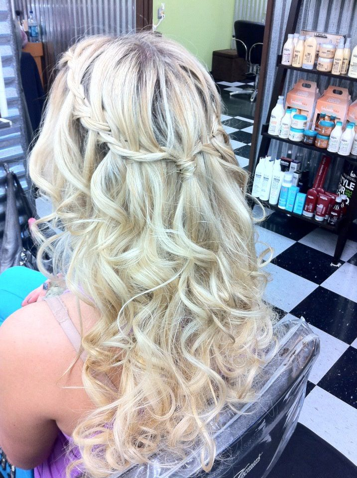 my hair for my semi formal<3333