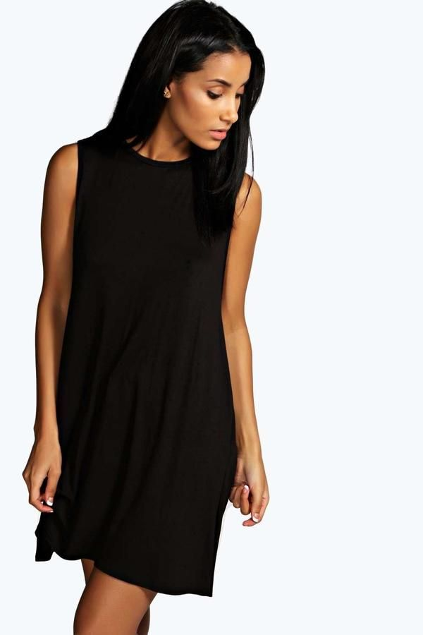 Drop Armhole Swing Dress Boohoo Products Dresses