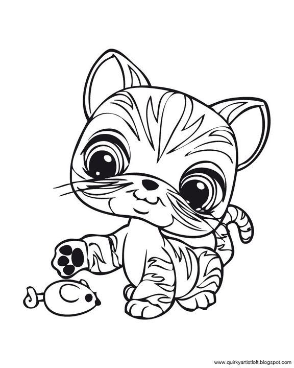 Quirky Artist Loft: Littlest Pet Shop - Free Printable Coloring Book ...