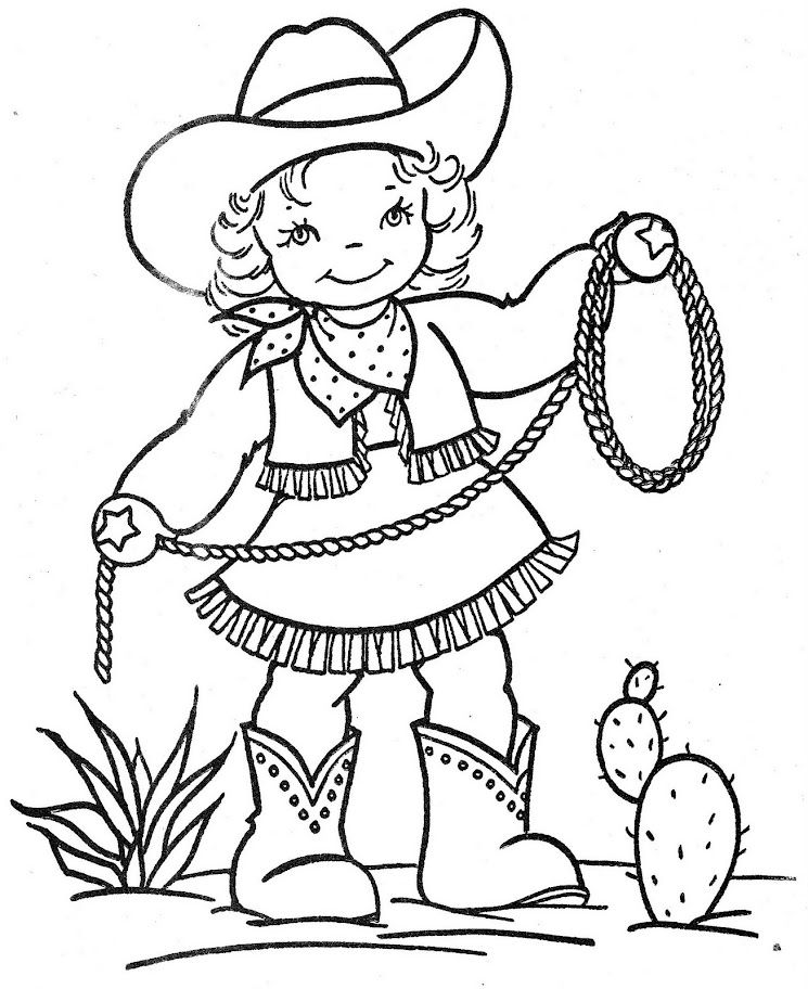 Little Cowgirl Coloring Pages