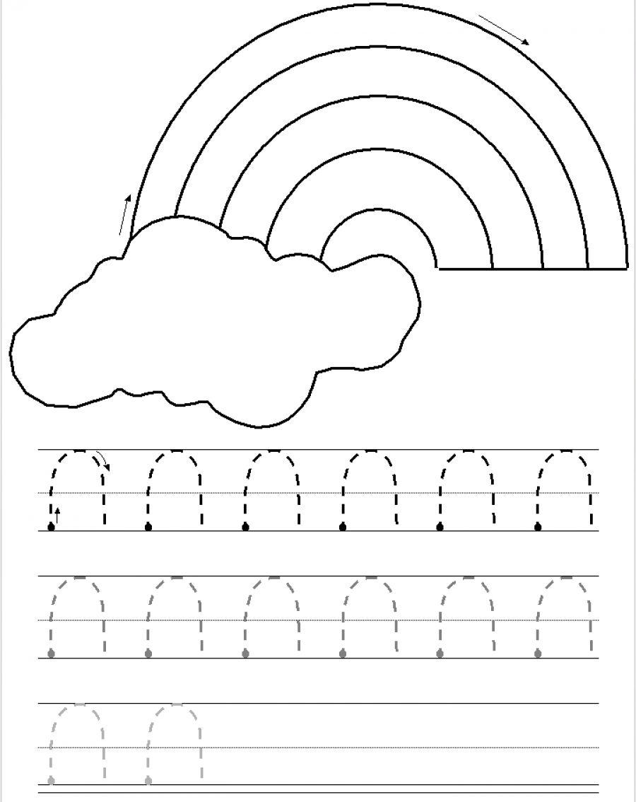 Curves Down Tracing Practice Preschool Tracing Tracing Worksheets Preschool Pre Writing Activities