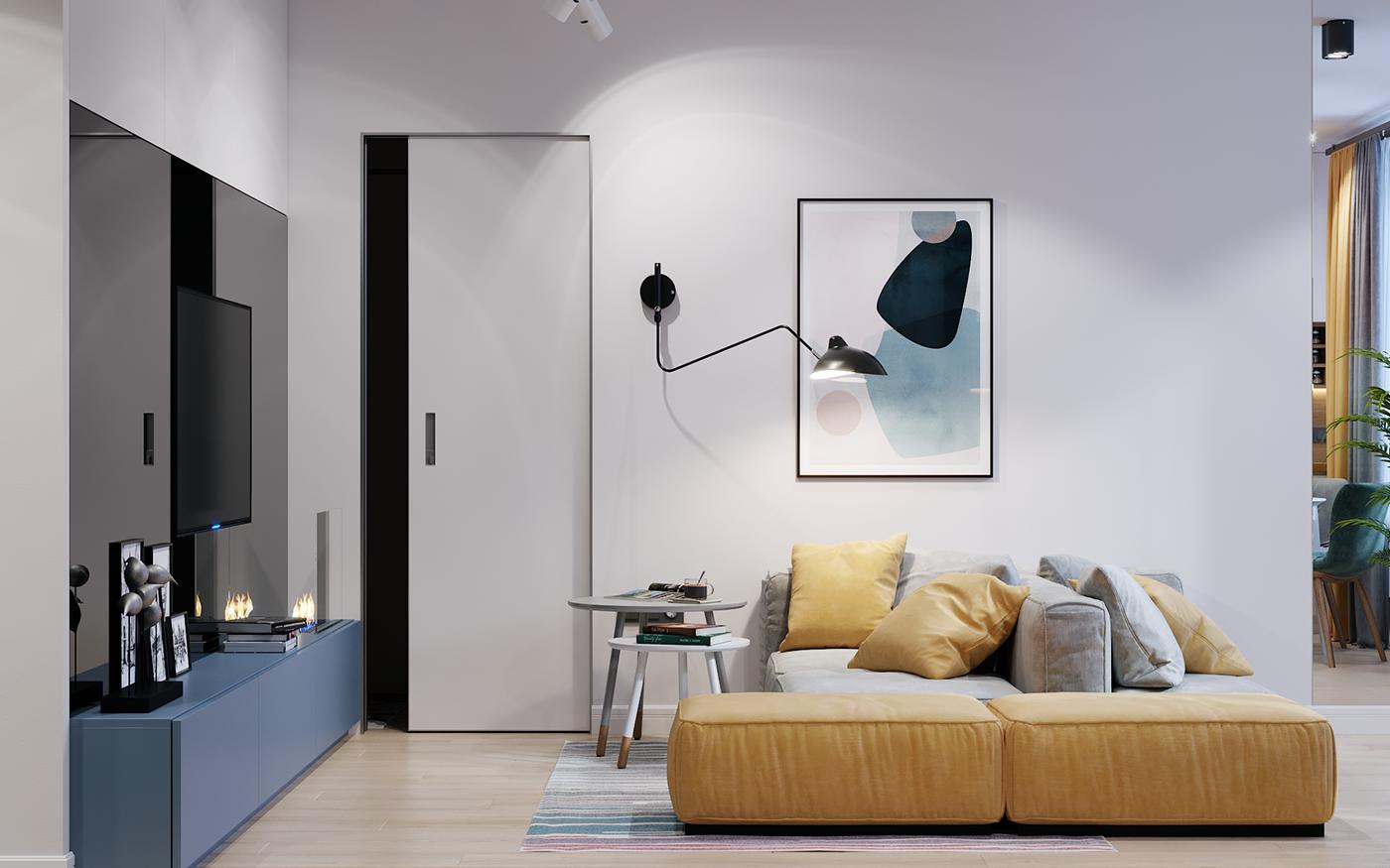 Interior Visualization On Behance Interior Home Decor Interior Design [ 875 x 1400 Pixel ]