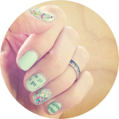 Newspaper Nails ~How To~
