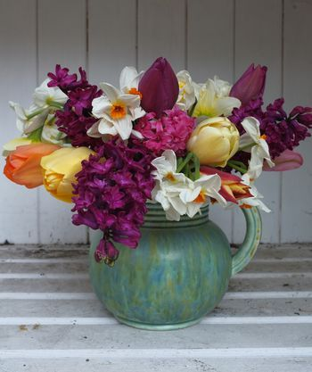 Pretty, could collect ,spray paint all different vase items for center pieces