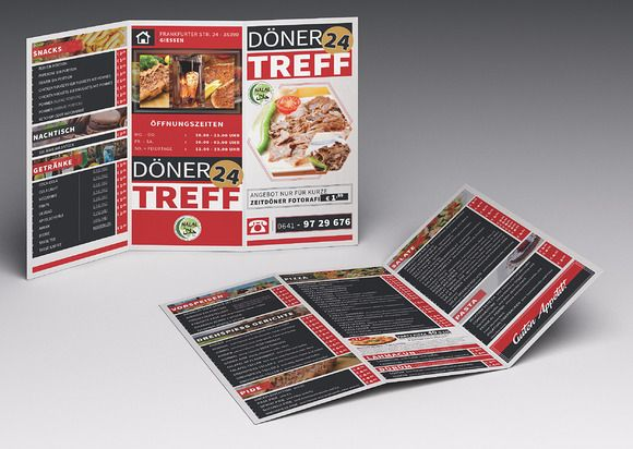 Cafe  Restaurant Trifold Brochure01 by fatihakdemir on Creative
