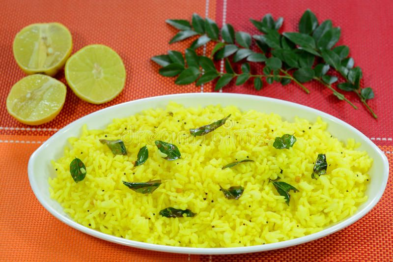 Lemon Rice. Is a popular indian rice dish made out of rice and lemon juice ,
