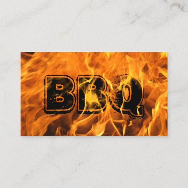 BBQ Catering Hot Burning Fire Business Card | Zazzle.com
