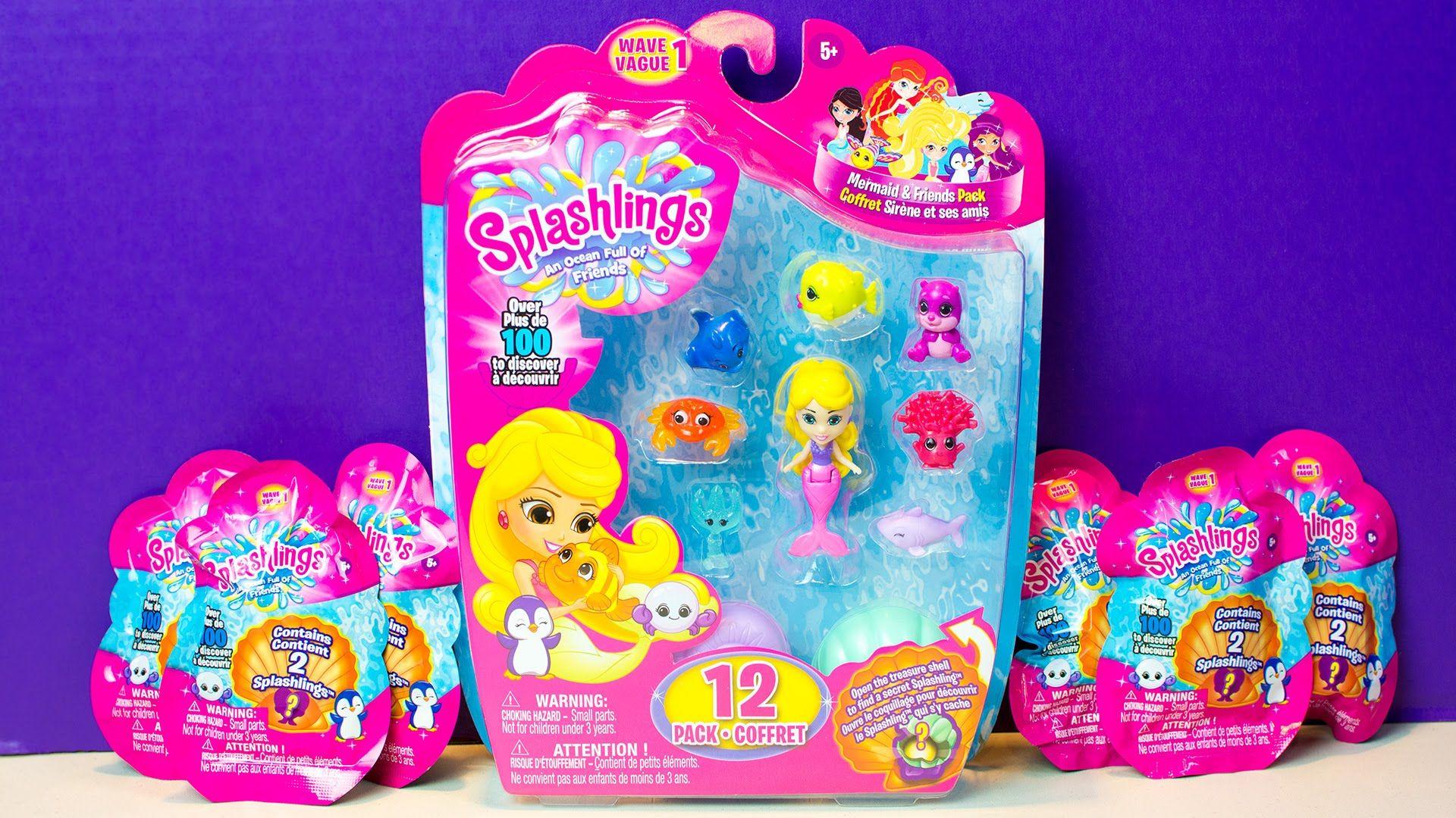 Splashlings Blind Bags Surprise Eggs Mermaid Toys for Children