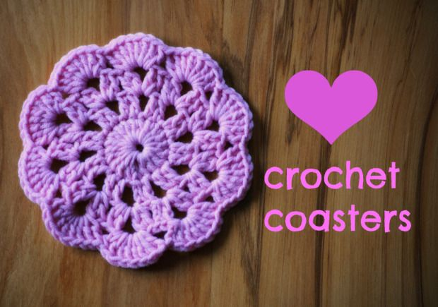 Crochet Coasters Tutorial | Flores de ganchillo, Ganchillo y Puntos ...