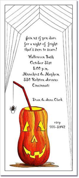 Halloween Invitations: Pumpkin Drink Halloween Party Invitations ...
