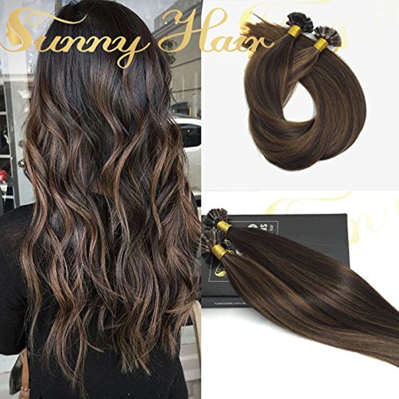 Sunny Cold Fusion Hair Extensions Natural Keratin U Tip Hair