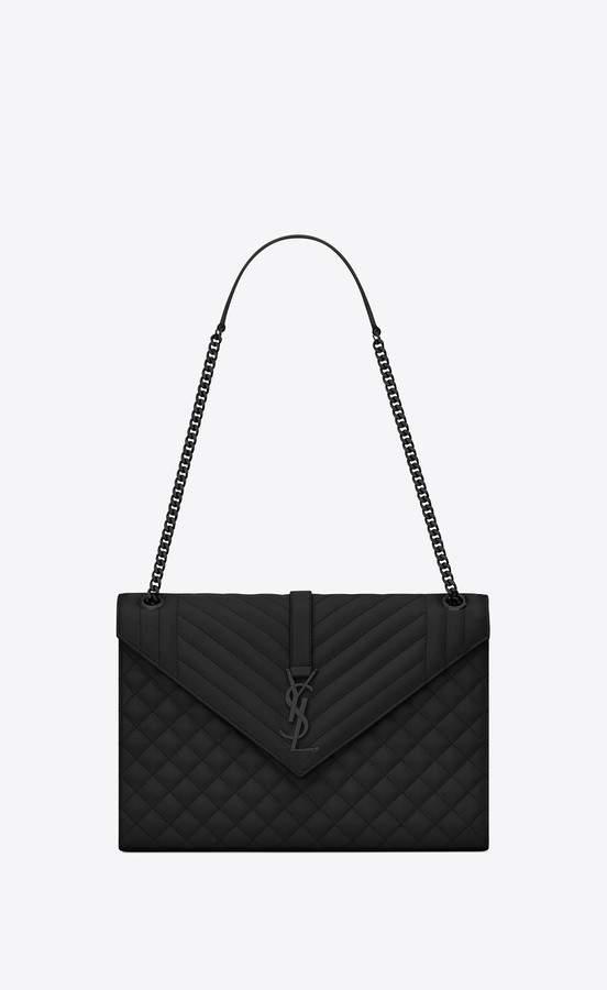 bc39d13471b5 Saint Laurent Envelope Large Bag In Grain De Poudre Embossed Leather ...