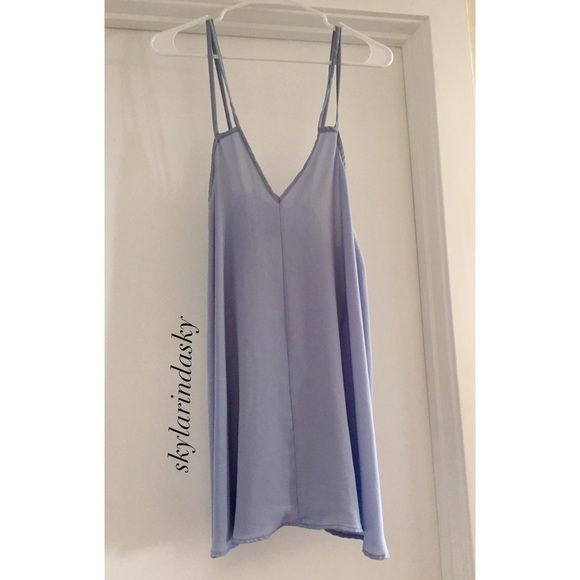 Brandy Melville baby blue dress Super cute! great condition. Prefer ️️!! Brandy Melville Dresses