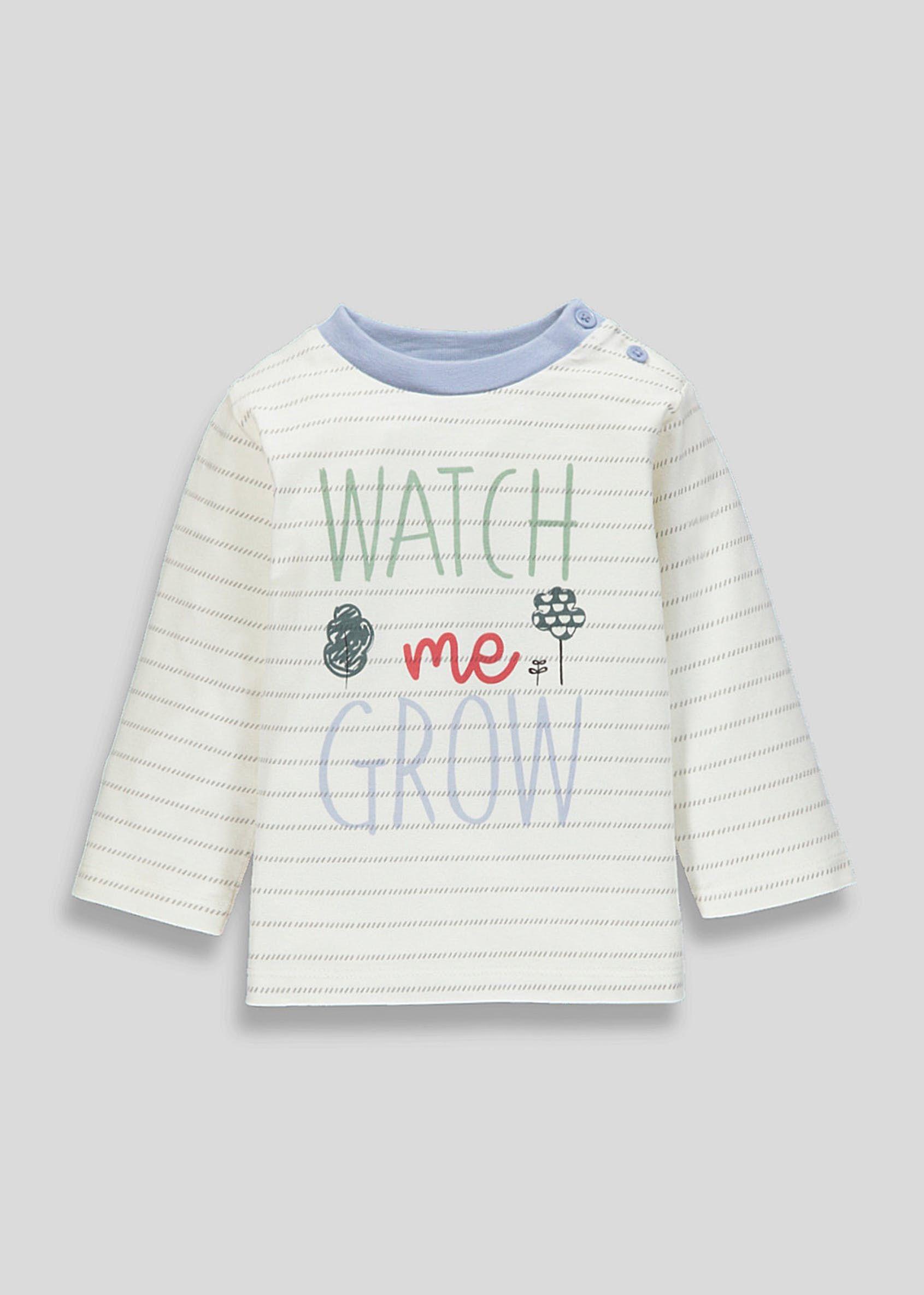 80c4327758bb1 Unisex Grow Slogan T-Shirt (Newborn-18mths) – Green | Baby/older ...