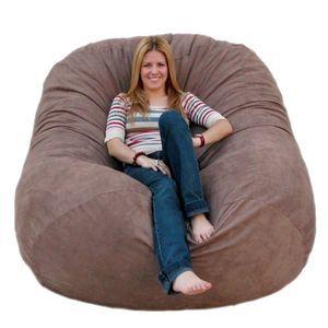 6-feet X-large Earth Cozy Sac Foof Bean Bag Chair Love Seat