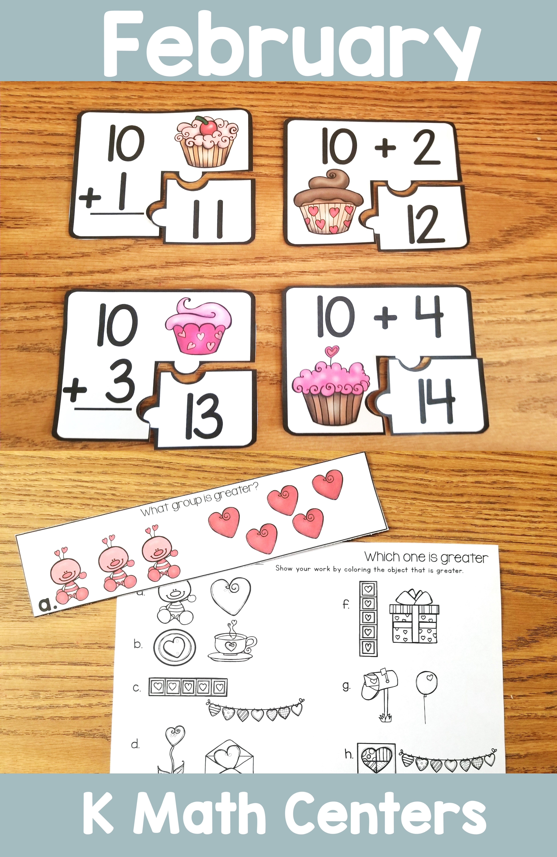 February Math Centers Kindergarten | Teacher Created ...