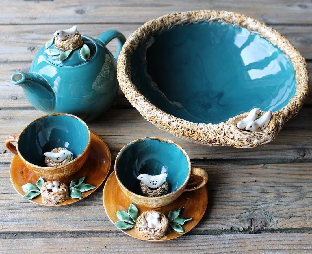 Оригинальная керамическая посуда – стильно оформленные модели ручной работы