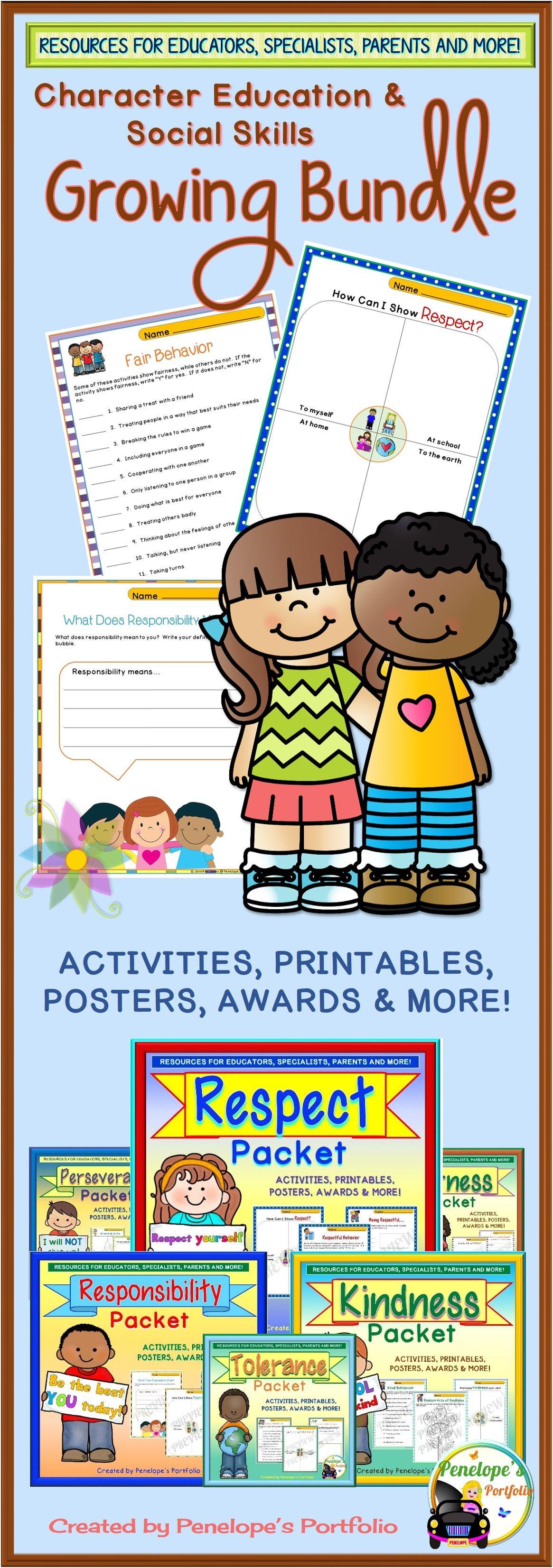 Character Education Bundle Social Skills Bundle