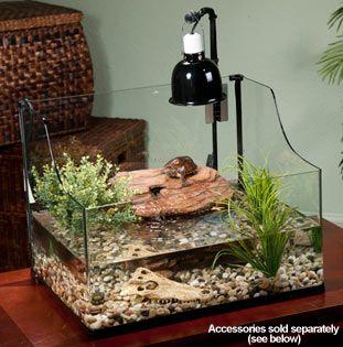 Exo Terra Bent Glass Turtle Terrarium