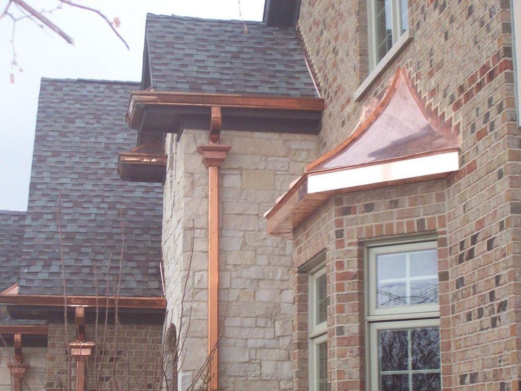 Copper Roofing Gutters And Downspouts Copper