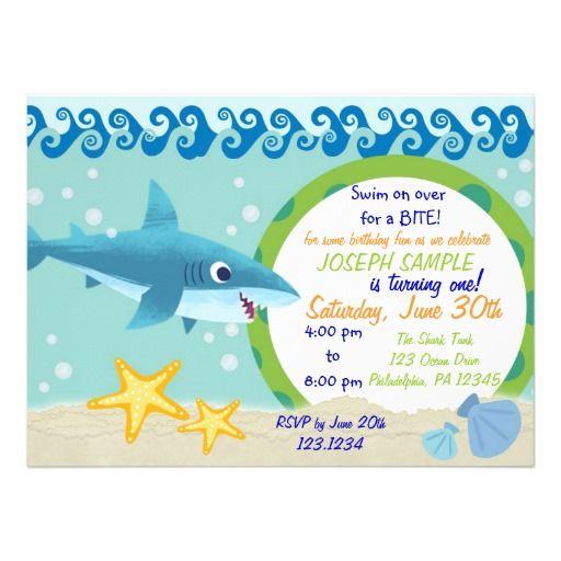 Shark birthday invitation pinterest birthdays and party invitations shark birthday invitation filmwisefo