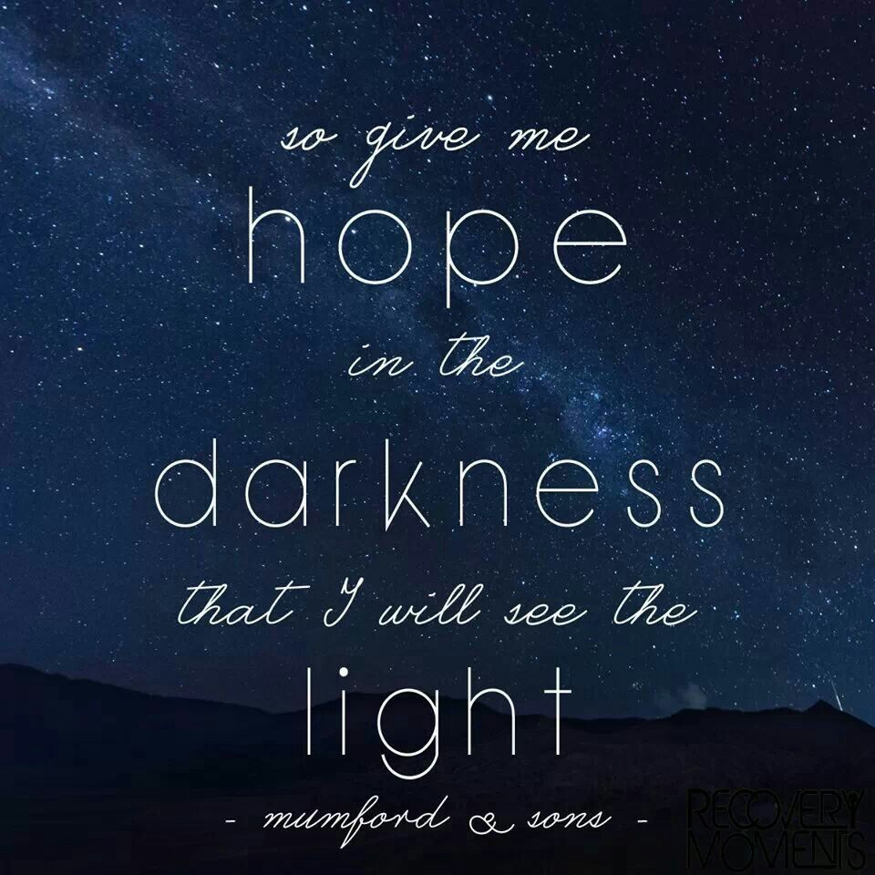 Image result for hope in the darkness