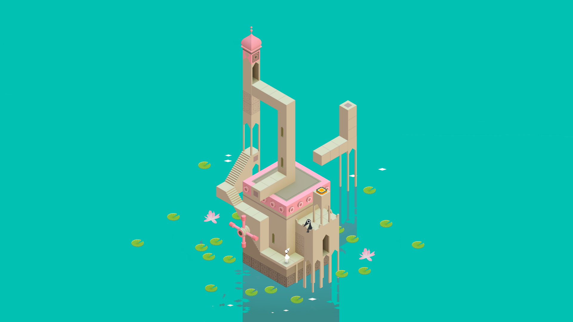 Monument Valley Find More Nerdy Iphone Android Wallpapers And Backgrounds At Prettywallpaper Monument Valley Game Monument Valley Valley Game