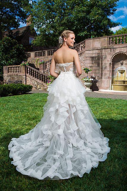 Een jurk met een bijzonder mooie rok.