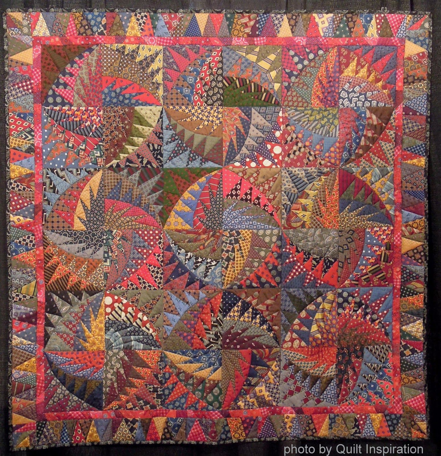 Necktie Quilting Patterns : Recycled Silk Ties - No Necks Needed by Virginia Anderson. 2013 Houston IQF. Pattern by Karen K ...
