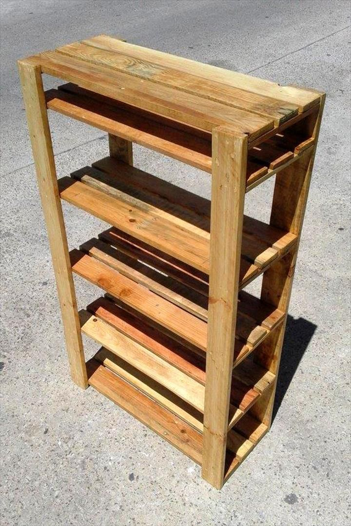 easy to make pallet shoe rack shoe rack pallets and. Black Bedroom Furniture Sets. Home Design Ideas