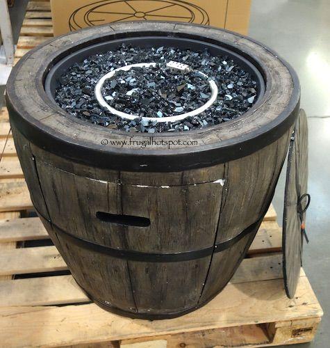 global outdoors 27u201d wine barrel gas fire table costco - Costco Patio Furniture