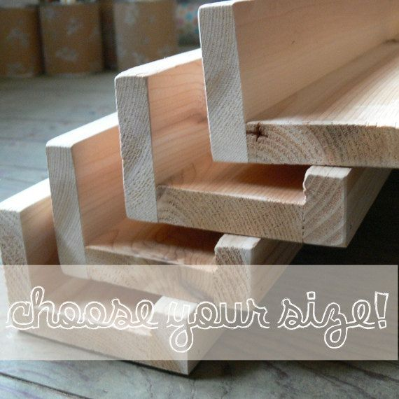 Floating picture ledge cedar wall bookshelf rustic photo for Wall shelves and ledges