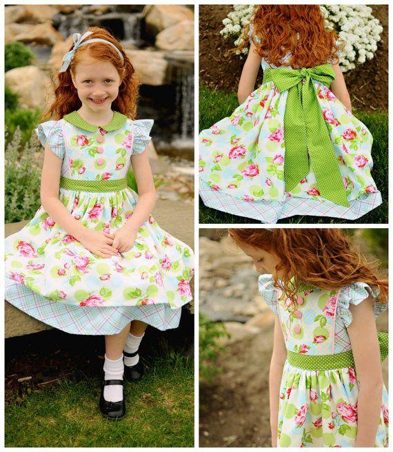 PDF Girls Dress Pattern - Georgia Vintage Dress Pattern, Size 6 ...