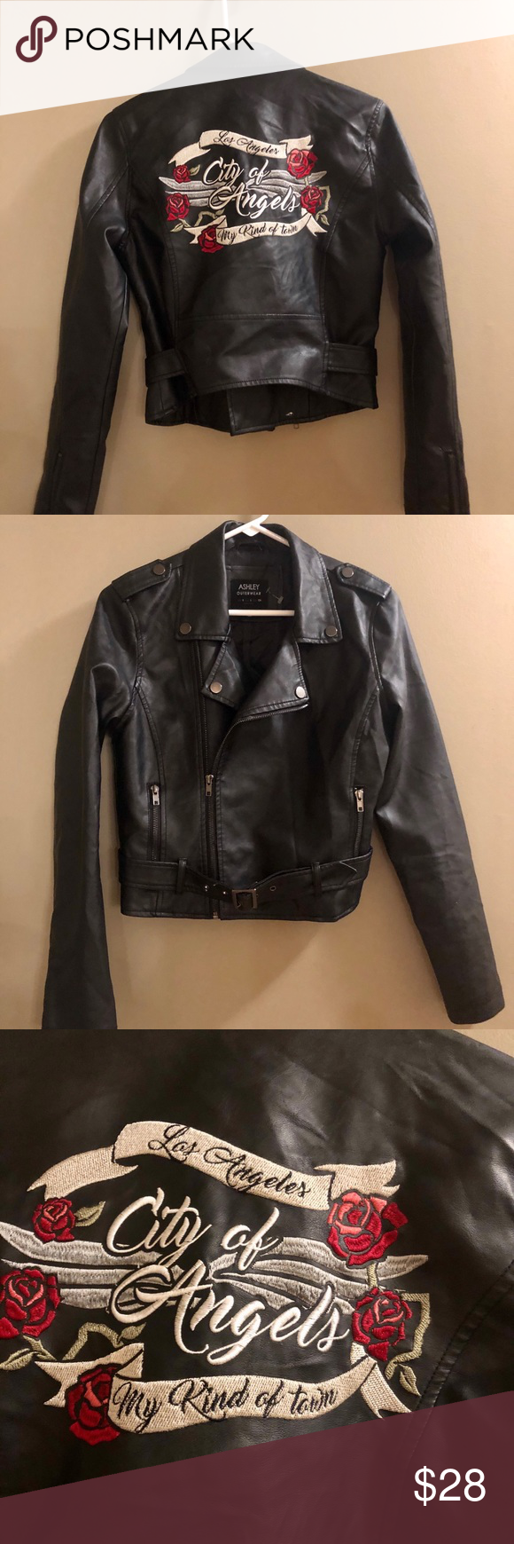 Ashley Mason Faux Leather Jacket La City Ofangel Leather Jacket Faux Leather Jackets Jackets [ 1740 x 580 Pixel ]