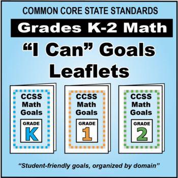 FREE Grades K-2 Math Goals Leaflets for Parents in \
