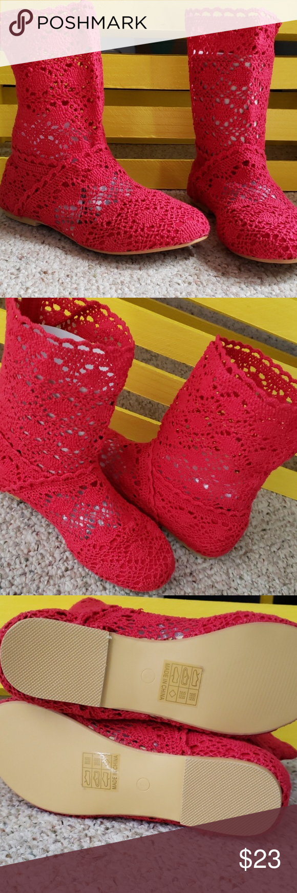 Red Crochet Lace Ankle Boots Cute red crochet lace ankle boot. Perfect to wear with a mini skirt, shorts or your favorite pair of skinny jeans. New w/o tags Shoelies Shoes Ankle Boots & Booties #skinnyjeansandankleboots Red Crochet Lace Ankle Boots Cute red crochet lace ankle boot. Perfect to wear with a mini skirt, shorts or your favorite pair of skinny jeans. New w/o tags Shoelies Shoes Ankle Boots & Booties #skinnyjeansandankleboots