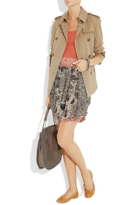 Burberry jacket, Isabel Marant skirt, Repetto shoes