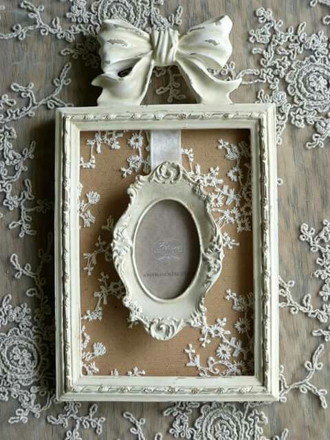 Double Frame With Images Shabby Chic Wall Decor Shabby Chic