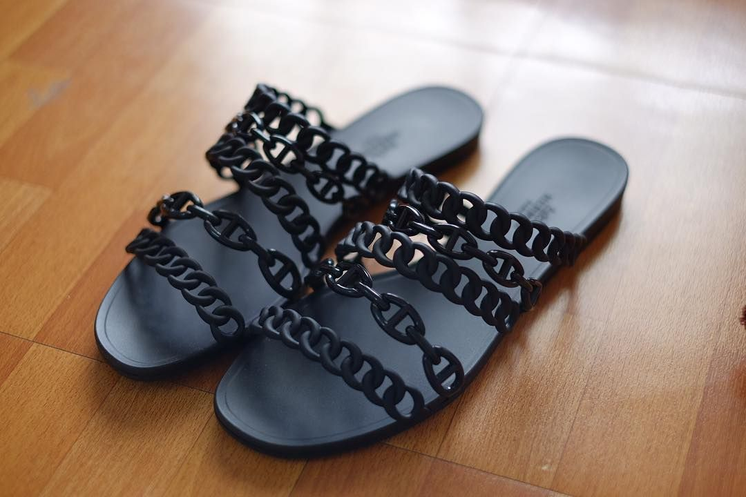 fe60a085ace Hermes Nude PVU Jelly Sandals  JellyShoes