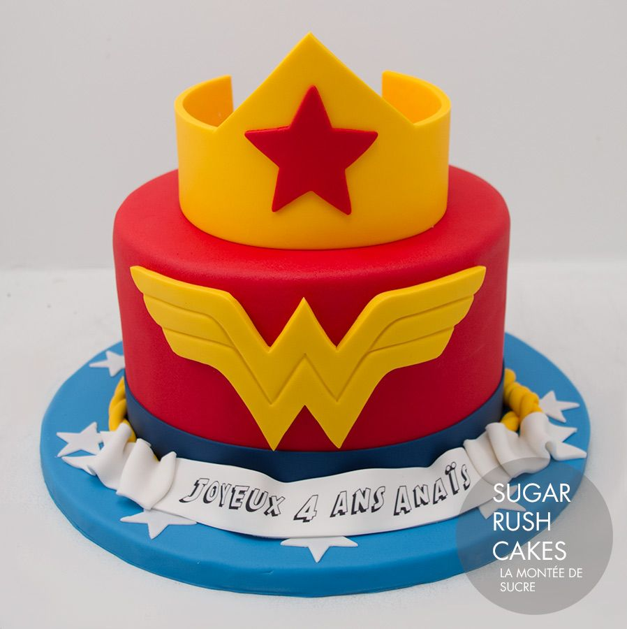Wonder Woman Cake For 8 With Images Wonder Woman Cake Cake